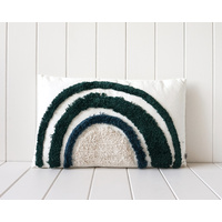 Tufted Cushion - Blue/Green Rainbow - 50x30