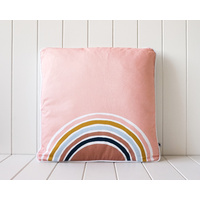 Cotton Cushion - Pink Sky Rainbow- 45x45