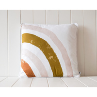 Indoor Cushion - Earth and Blush Semi Rainbow - 45x45