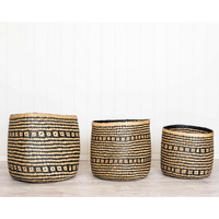 Basket Set - Lourdes Black - Seagrass - Set 3