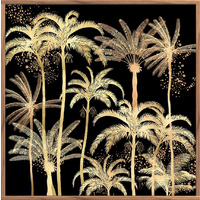 Floating Frame- 100 x 100 - Palm Forrest Gold