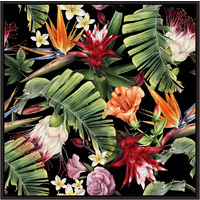 Floating Frame - Tropicana Flowers - 100x100