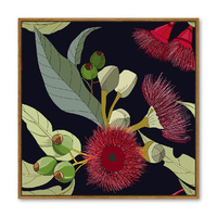 Floating Frame - Australian Bottle Brush - 100x100