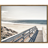 Floating Frame - Boardwalk to the Beach  - 100x80