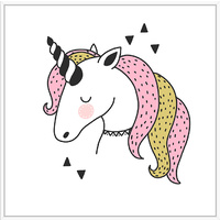 Thin Floating Frame - Jnr. - Strawberry Unicorn - 30x30