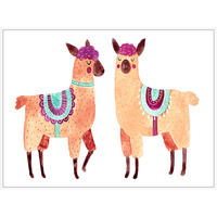 Thin Floating Frame - Jnr. - Llama Party - 30x40