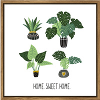 Thin Floating Frame  - Home Sweet Home - 30x30