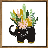 Thin Floating Frame - Elephant Planter - 30x30