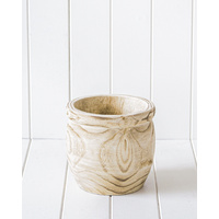 Pot/Planter - Currawong Timber Natural - 19x18cm (MIN 2)