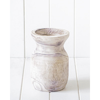 Vase - Apollo Timber White Wash - 13x20cm (MIN 2)