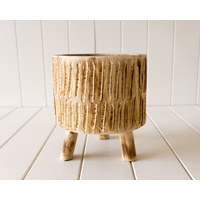 Pot/Planter - Tokoriki - Timber Small Natural - 19x21 (MIN 2)
