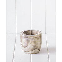 Pot/Planter - Hendrix Timber White Wash - 12x12cm (MIN 2)