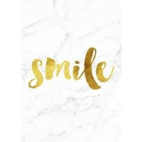 A4 Poster - Gold Foil/Marble Background - Smile (MIN 6)