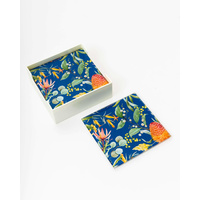 Glass Coaster - (MIN 2) Navy Australiana