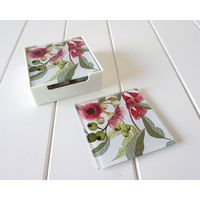 Glass Coaster - Flowering Gum White - (MIN 2)