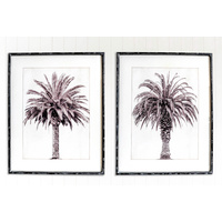 Premium Framed Glass Artwork - Monochrome Shade - Set of 2 - 80x100