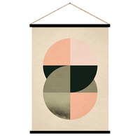 Hanging Scroll - Connected Geometric Spheres - 65 x 92