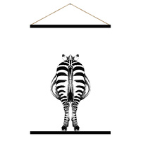 Hanging Scroll - Jnr. - Zu Zu Zebra Back- 65 x 97