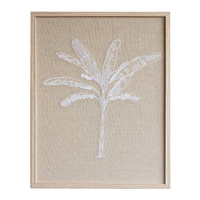 Premium Edition - Coco Palm Duo White - Embroidered Linen - 40x52