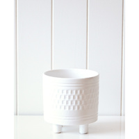 Pot/Planter - Blanc Small - 15x15cm