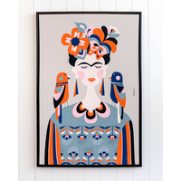 Artist Lab - Rachel Lee - Frida Kahlo Framed Canvas - 62x92