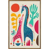 Thin Floating Frame - Artist Lab - Rachel Lee - Giraffe - 40x60