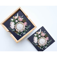 Artist Lab - InkHeart - Peninsula Wild Flower - Ceramic Coaster Set (MIN 2)