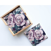 Artist Lab - InkHeart - Frilly Flowers - Ceramic Coaster Set (MIN 2)