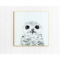 Artist Lab - Maria Harding - Harper the Owl Glass Artwork - 60x60