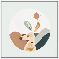 The Artist Lab - Booie & Ben - Moon Animal Kangaroo - 90x90