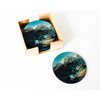 Artist Lab - Chris Dixon - Shattering Sea Glass Coaster Set (MIN 2)