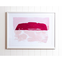 Artist Lab - Natapart - Uluru Pink Sunset Framed Glass Artwork - 80x60