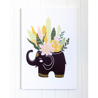 Canvas Print - Elephant Planter - 40x60 (MIN 2)