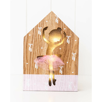 LED Light Box - Babette Ballerina - 17x25x3