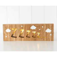 LED Light Box - Catching Zzzzz - 30x10x3