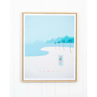 Framed Artwork - Heavenly Hawaii - 40 x 50