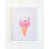 Framed Artwork - Jnr. - Ice Cream Stack Pink - 30x40