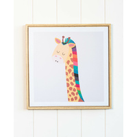 Framed Artwork - Jnr. - Rainbow Giraffe - 35x35