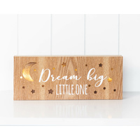 LED Light Box - Jnr. - Dream Big Little One - 30x12x3