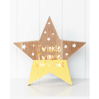 LED Light Box - Jnr. - Twinkle Twinkle Little Star - 28x29x3