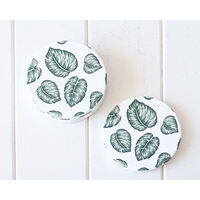 Ceramic Coaster - Monstera Leaves - Set 4 - (MIN 2)