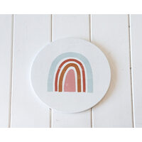 Trivet- Earth, Sky Blue and Blush Rainbow - 20x20 (MIN 2)
