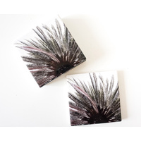 Ceramic Coaster - Sky-High Palm - Set 4 - (MIN 2)