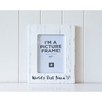 Photo Frame - B/W Worlds Best Nana - 21.5x26.5 (MIN 2)