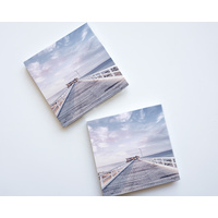 Ceramic Coaster - Jetty Sunsets - Set 4 - (MIN 2)