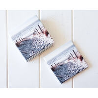 Ceramic Coaster - Sunrise Beach Views - Set 4 - (MIN 2)