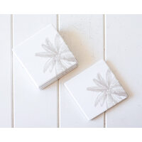 Ceramic Coaster - Natural Coco Palm - Set 4 - (MIN 2)