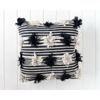 Indoor Cushion -  Kolkata - Black/Natural - 45 x 45