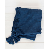 Throw Blanket - Jaipur - Navy Blue - 125x150