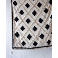 Throw Blanket - Henley - Natural Black - 125x150